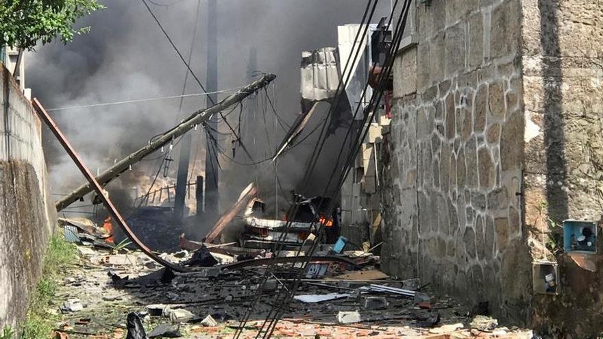 Al menos un muerto y doce heridos en una explosión en Tui (Pontevedra)