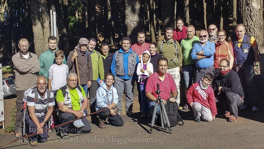 Grupo de la Asociación @foto La Palma que realizó el sabado un safari fotográfico por la zona de La Hilera. Foto: JOSÉ F. AROZENA.