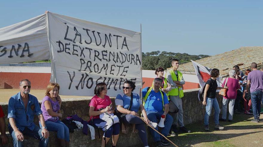 El Campamento Dignidad, a su llegada al final de la marcha. \ Ignacio Tudela