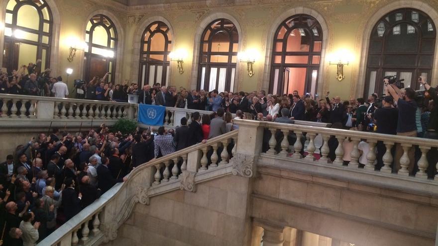 Imagen del Parlament el día en que se declaró la independencia.