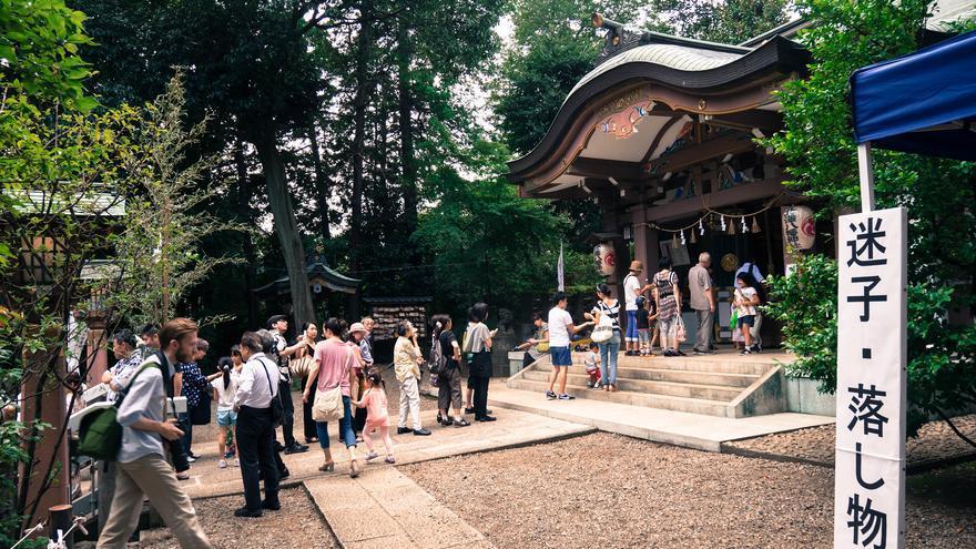 El Templo de Kitazawa Hachiman es una de las construcciones más antiguas del barrio. Keith Lu