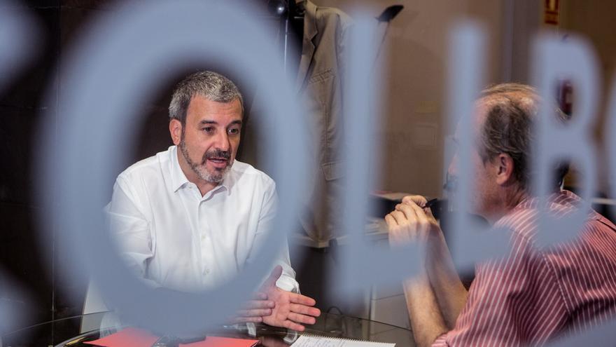 Jaume Collboni a un moment de l'entrevista / ENRIC CATALÀ