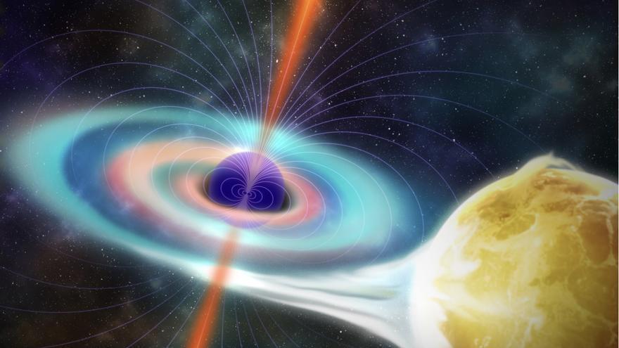 Representación artística del agujero negro. Crédito: Micheal McAleer/UF News.
