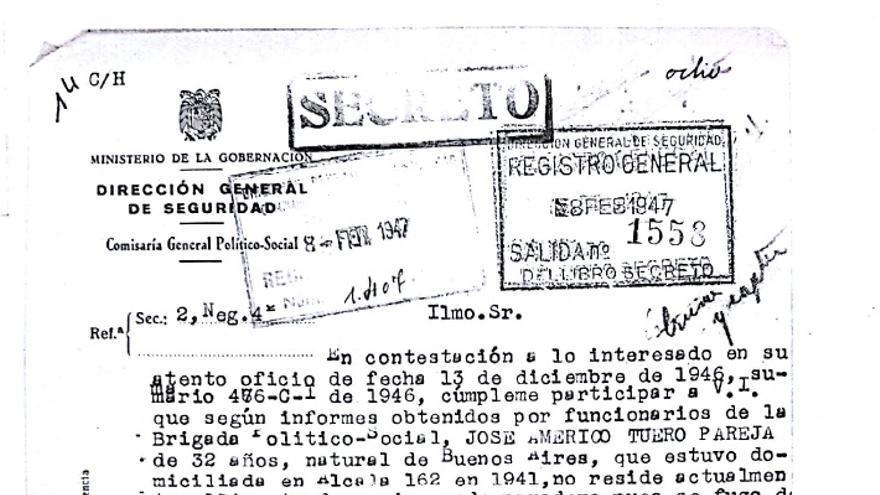 Documento judicial que confirma el paradero desconocido del preso fugado
