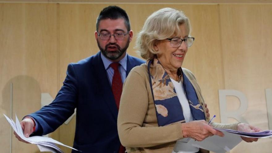 Carlos Sánchez Mato y Manuela Carmena.