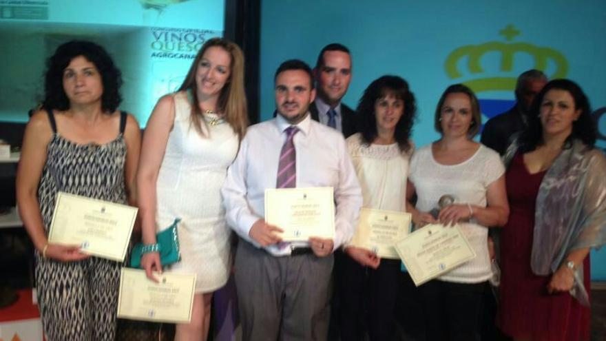 En la imagen, los premiados palmeros en el Concurso de Agrocanarias 2014.