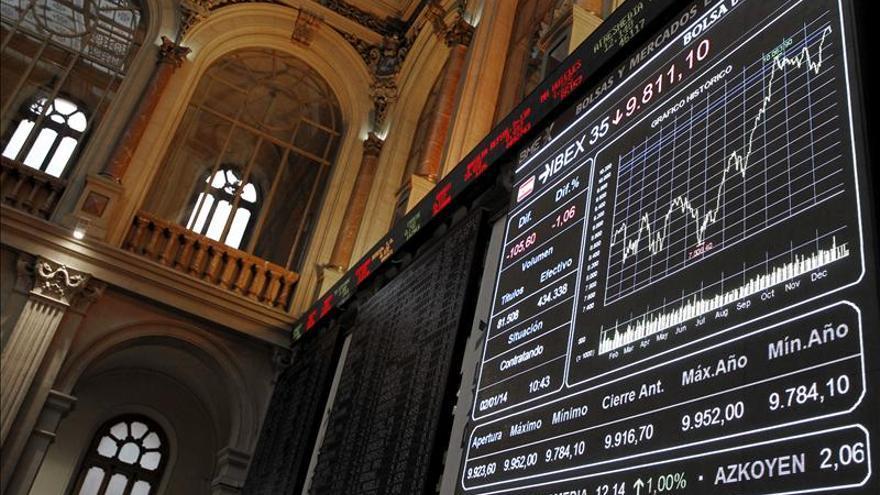 El IBEX 35 baja el 0,14 por ciento tras la apertura pese a la caída del paro en 2013