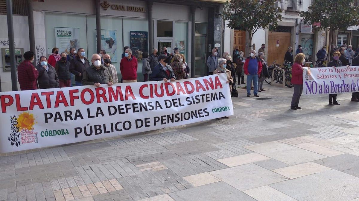 Concentración de la Plataforma en Defensa de las Pensiones.