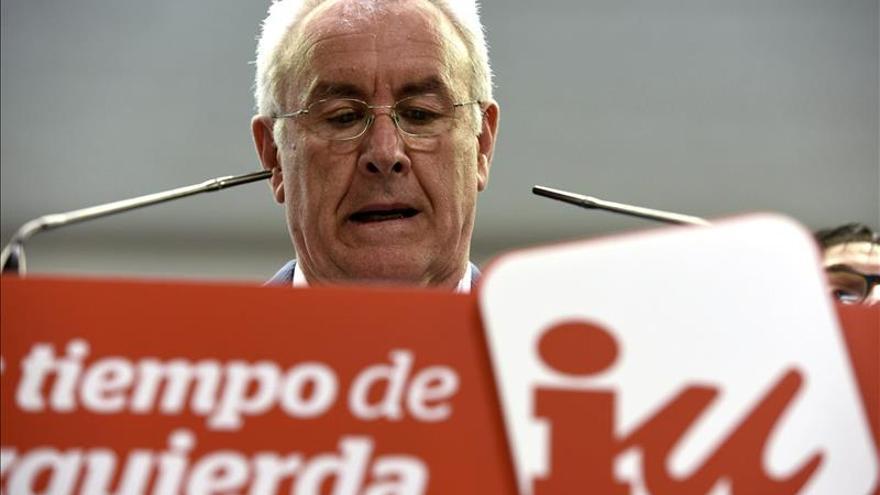 Cayo Lara, coordinador federal de Izquierda Unida. / Efe