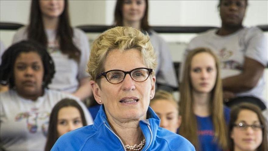 La primera ministra de Ontario celebró en español el primer mes de la Hispanidad