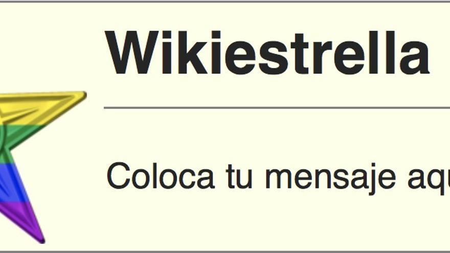 La 'Wikiestrella LGTB' es un premio al esfuerzo de los usuarios que contribuyen en el wikiproyecto