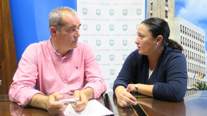Los consejeros Gonzalo Pascual y Carmen Brito.