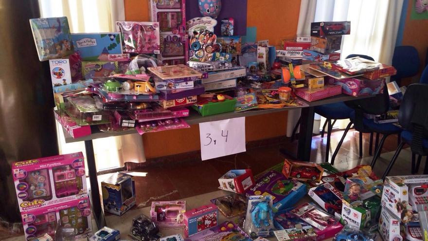 Imagen de parte de los juguetes donados por empresas, entidades y ciudadanos aridanenses.