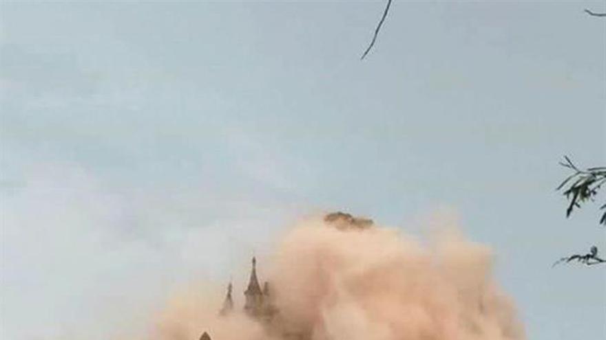 Cuatro muertos y 185 templos dañados en Bagan por terremoto en Birmania