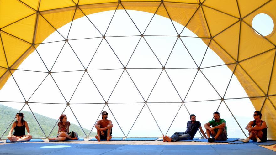 Dentro del Yurt
