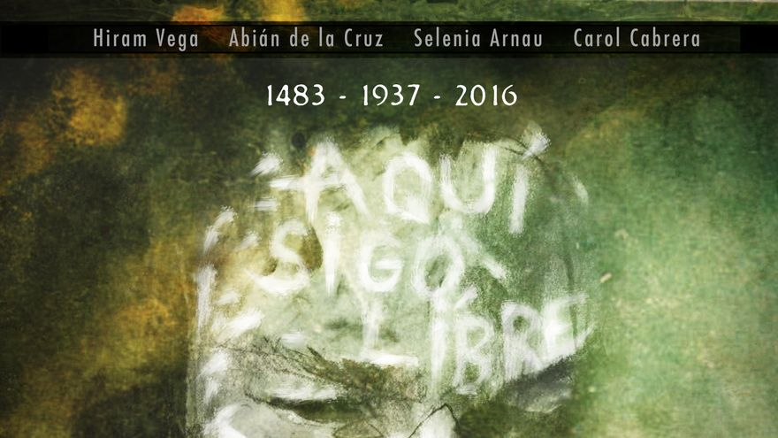 Poster de Ancestro, la obra de teatro de Alexis Ravelo.