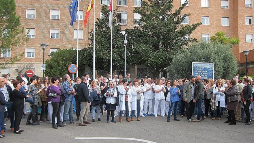 Protesta de trabajadores en el Complejo Hospitalario de Toledo / Europa Press