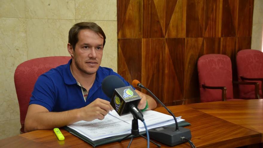 Mariano Hernández Zapata, este jueves en rueda de prensa.