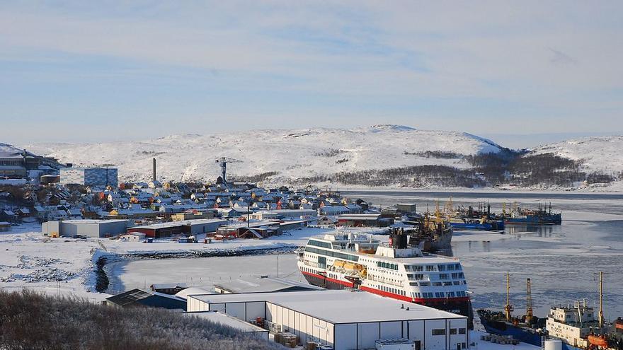 El puerto de la localidad noruega de Kirkenes en 2010.