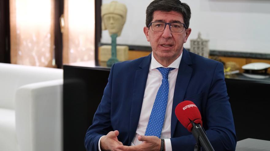 El vicepresidente de la Junta de Andalucía, Juan Marín, en una imagen de archivo.