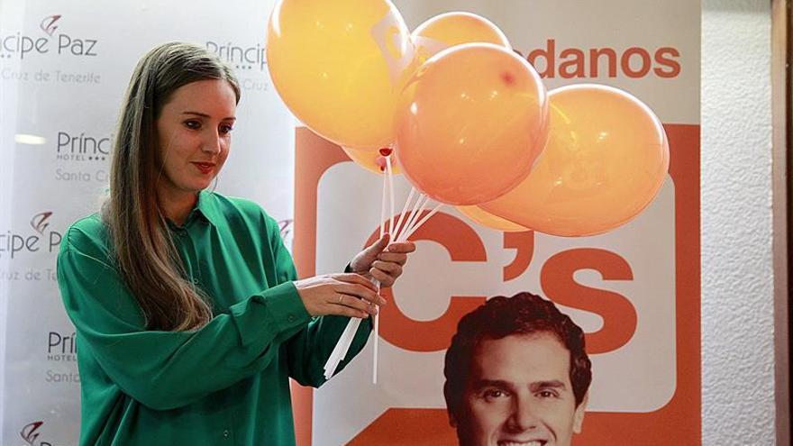 La candidata de Ciudadanos, Melisa Rodríguez. (EFE/Cristóbal García)