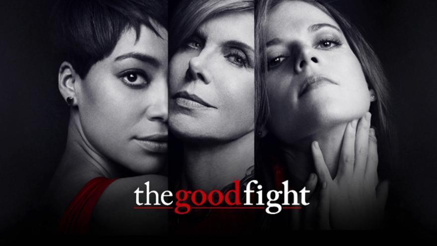 Las protagonistas de 'The Good Fight': Cush Jumbo, Christine Baranski y Rosie Leslie