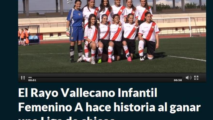 """En MARCA: """"El Rayo Vallecano Infantil Femenino A hace historia al ganar una Liga de chicos"""