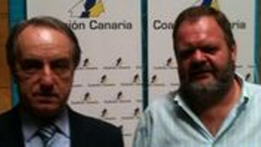 Álvaro Pérez, con Fernando Bañolas.