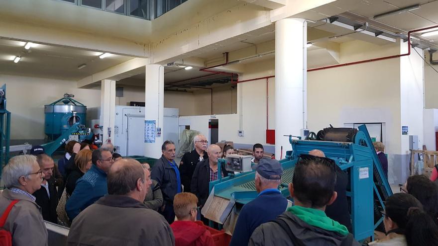 Sala con maquinaria para el tratamiento de la castaña en La Matanza