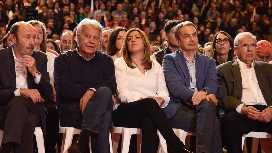 """Alfonso Guerra ve en Susana Díaz una """"magnífica candidata"""" a la que votará para la Secretaría General del PSOE"""