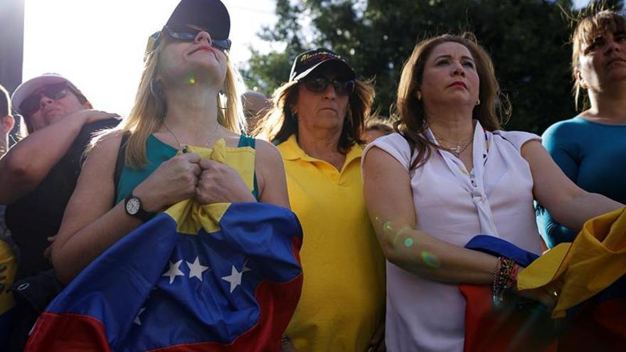 Concentración en Tenerife a favor de Juan Guaidó