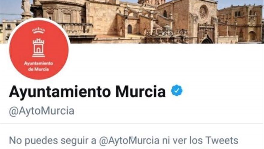 Cuenta de Twitter del Ayuntamiento de Murcia