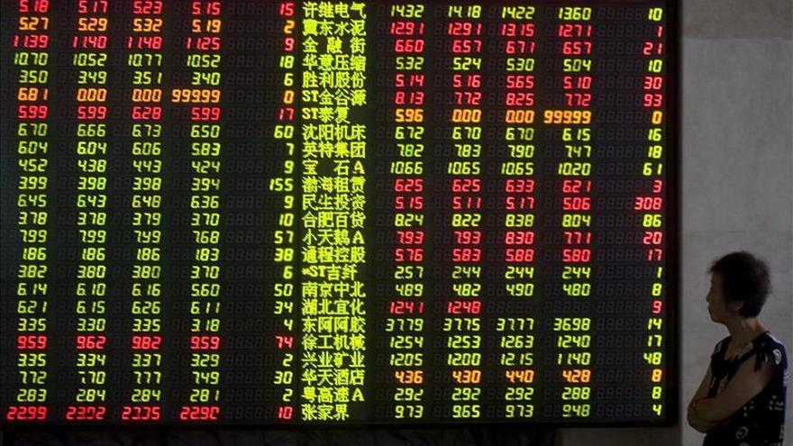 La Bolsa de Shanghái abre ganando un 0,34 por ciento
