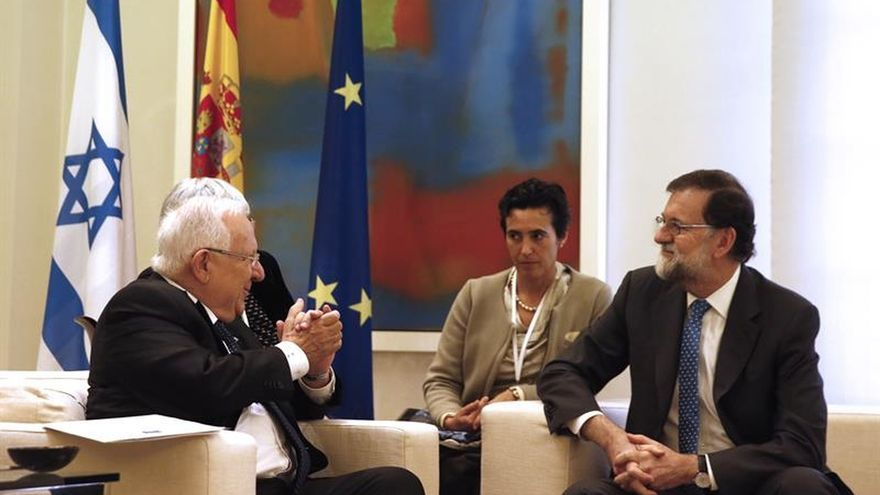 Rajoy traslada a Rivlin que considera a Israel socio fundamental en O.Medio