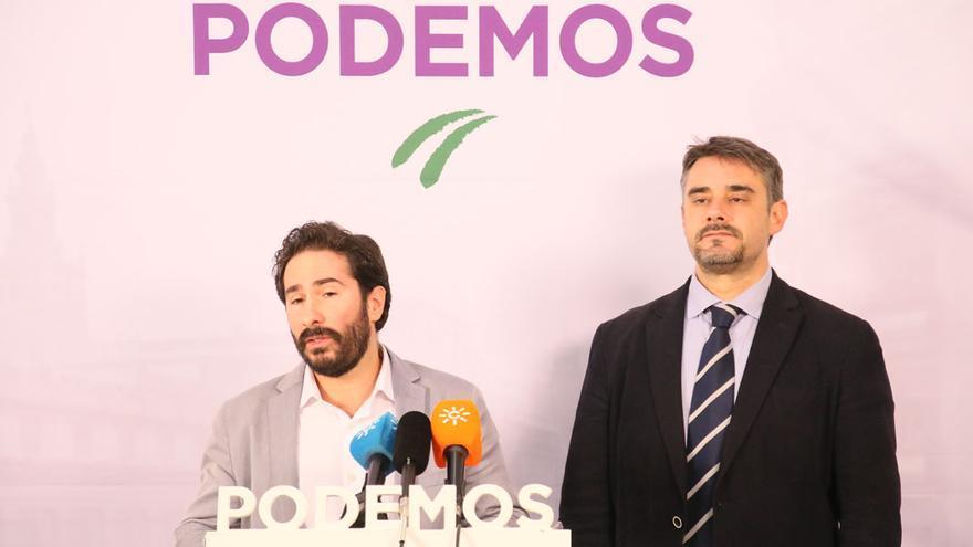 Moscoso y Yagüe, parlamentarios de Podemos.