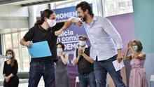 Vicepresidente Pablo Iglesias en campaña