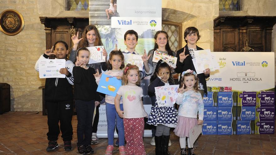 La Fundación Vital entrega los premios a los escolares participantes en el programa 'Desayunos saludables'