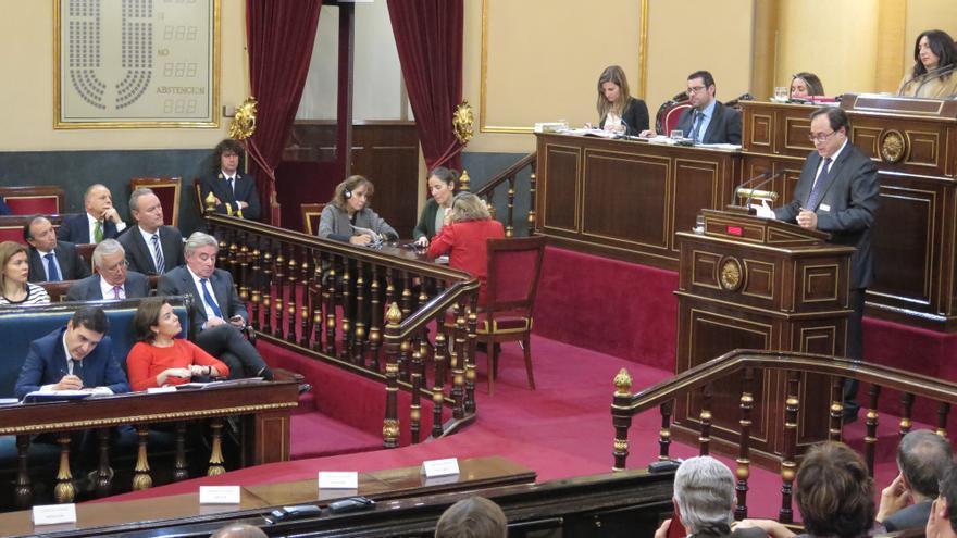 El conseller de Hacienda, Vicent Soler, valora en el Senado la Conferencia de Presidentes