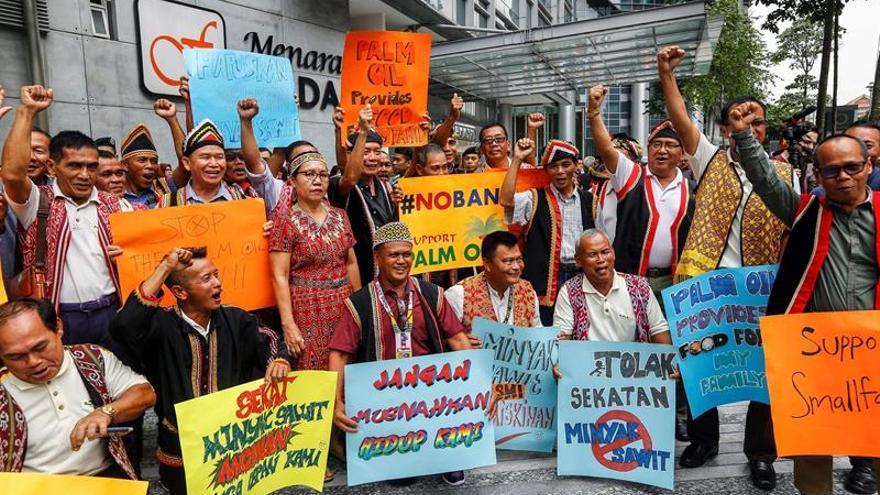 Agricultores malasios protestan contra el veto de la UE al aceite de palma
