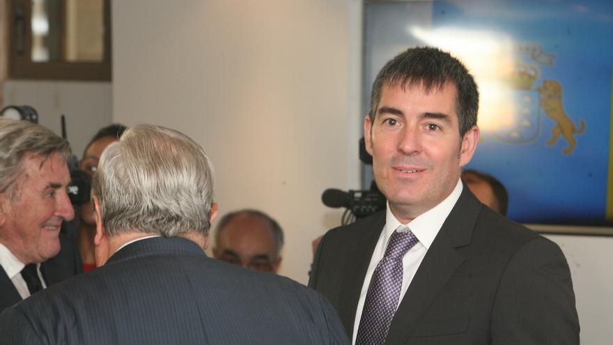 Fernando Clavijo en su toma de posesión como Presidente del Gobierno de Canarias (ALEJANDRO RAMOS)