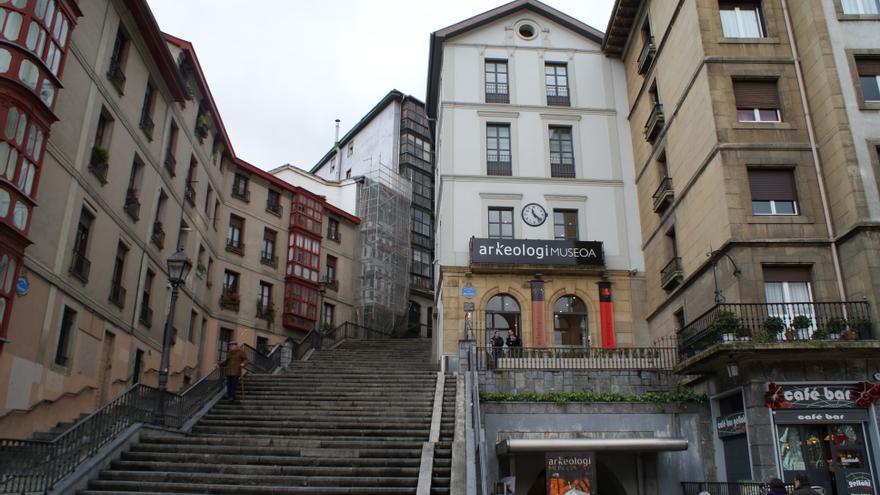Exterior del museo de Arqueología de Bilbao.