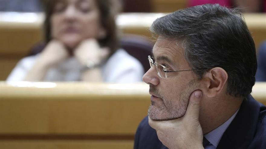 Catalá espera que los presupuestos acallen protestas en el sector de la Justicia