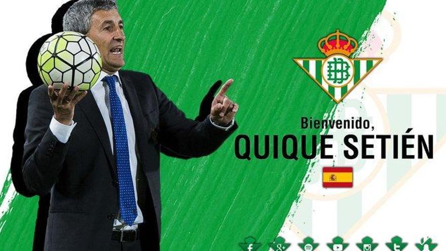 Quique Setién, nuevo entrenador del Betis