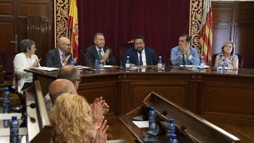 Javier Moliner (PP) preside el último pleno de la Diputación de Castellón