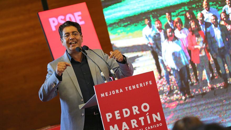 Pedro Martín, en un acto político de su partido, el PSOE