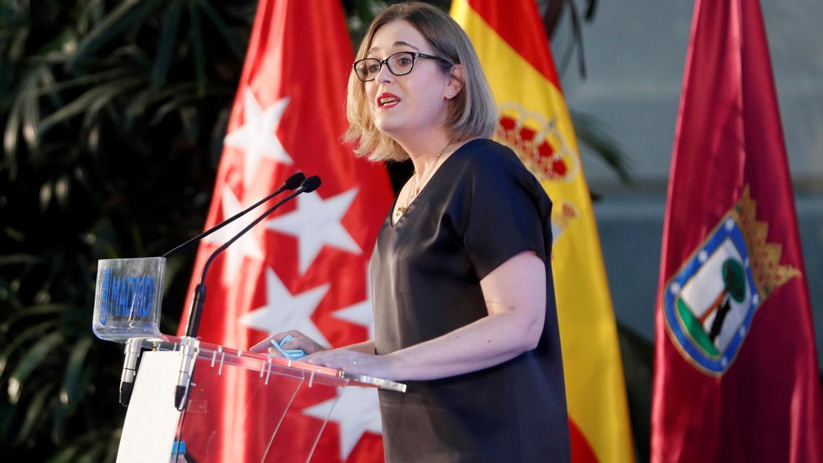 La consejera de Cultura, Turismo y Deporte, Marta Rivera de la Cruz, en el acto de este martes