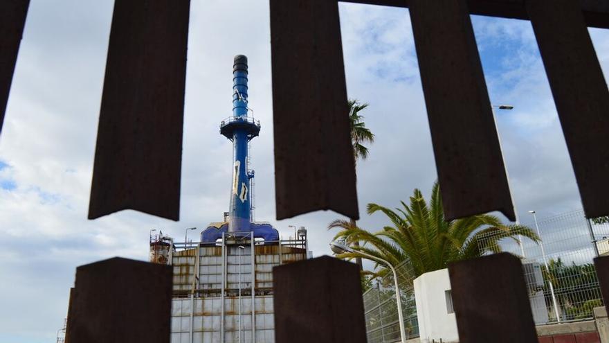 Refinería en Santa Cruz de Tenerife.
