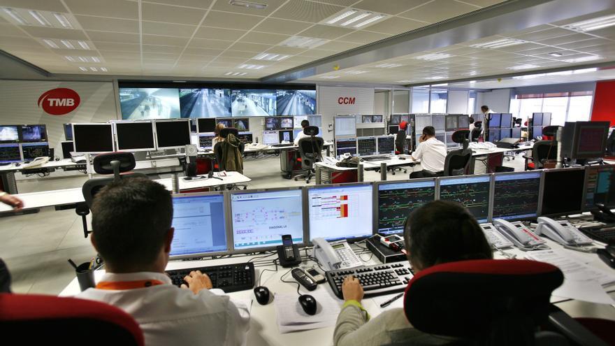 Instalaciones del centro de Control del Metro de TMB