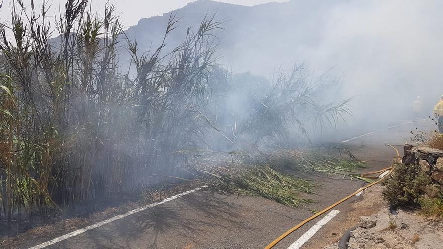 Conato de incendio en Risco Blanco.