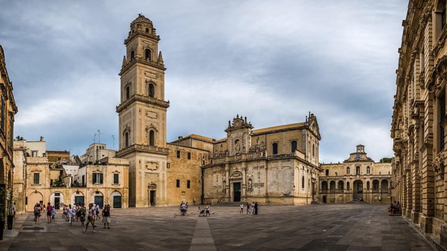 Plaza del Duomo, en Lecce. Giuseppe Milo